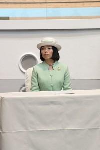 表彰式に臨席される彬子女王殿下