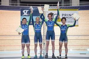 男子チームパーシュート表彰式